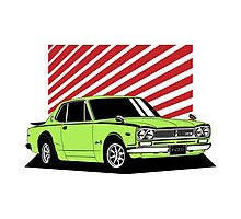 Nissan Skyline 2000 GT-R Coupe (green) Photographic Print