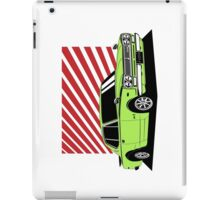 Nissan Skyline 2000 GT-R Coupe (green) iPad Case/Skin