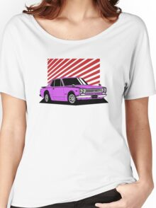 Nissan Skyline 2000 GT-R Coupe (purple) Women's Relaxed Fit T-Shirt
