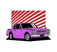 Nissan Skyline 2000 GT-R Coupe (purple) Photographic Print