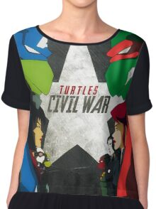 Turtles Civil War Chiffon Top
