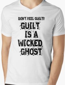 Guilt Is A Wicked Ghost Mens V-Neck T-Shirt