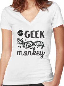 Geek Monkey Cosima  Women's Fitted V-Neck T-Shirt