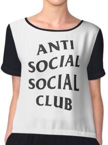 Anti Social Social Club ASSC High Quality Design Chiffon Top
