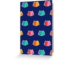 Chromatic Cats Pattern Greeting Card
