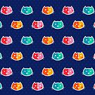 Chromatic Cats Pattern by Corinna Djaferis