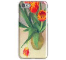 Bright Orange Tulips in a Vase iPhone Case/Skin