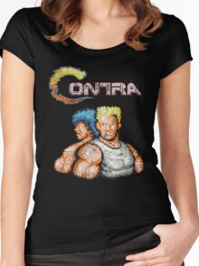 Contra Vintage Heros Pixels Women's Fitted Scoop T-Shirt