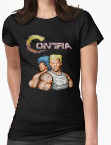 Contra Vintage Heros Pixels Womens Fitted T-Shirt