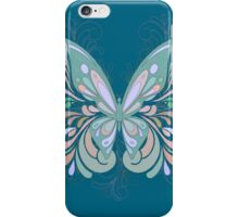 Pastel Color Butterfly with colorful swirls iPhone Case/Skin