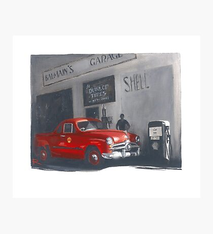 The Old Balmain Garage Photographic Print