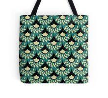Geometric Heliconia Fan Pattern Tote Bag