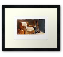 The Chair in Beadles' Window Framed Print