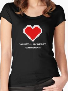 You Fill My Heart (Containers) Women's Fitted Scoop T-Shirt