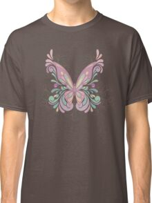 Colorful Ornately Designed Butterfly Graphic with flourishes Classic T-Shirt