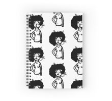"""FIONA - """"The Angry Naked Cat Lady Collection"""" Spiral Notebook"""