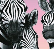zebra photobomb Sticker