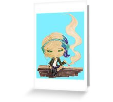 riley blue on a wall Greeting Card