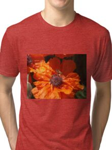 A Bee And A Poppy   Tri-blend T-Shirt