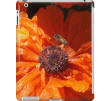 A Bee And A Poppy   iPad Case/Skin