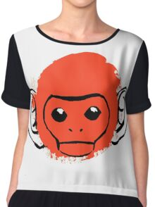 Monkey Chiffon Top
