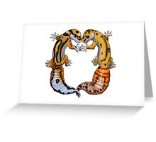 Leopard Gecko love Greeting Card
