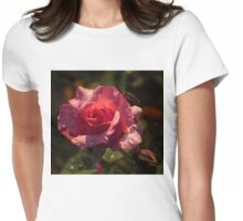 Inner Glow In Pink Womens Fitted T-Shirt