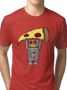 Pizza Robot (Color) Tri-blend T-Shirt