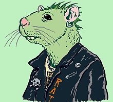 Rat Punk™ (Vile Green) by Trulyfunky