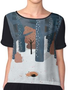 Asleep in the Woods Chiffon Top