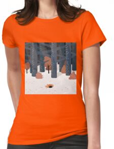 Asleep in the Woods Womens Fitted T-Shirt