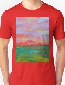 Landscape sunset beach ocean Unisex T-Shirt