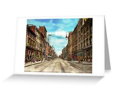 City - Knoxville TN - Gay Street 1903 Greeting Card