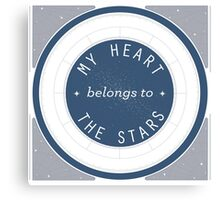 My Heart Belongs to the Stars Constellation Chart Design Canvas Print