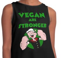 VEGAN are stronger Contrast Tank