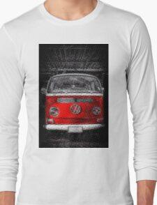 Red combi Volkswagen Half Tone Long Sleeve T-Shirt
