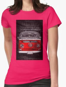 Red combi Volkswagen Half Tone Womens Fitted T-Shirt