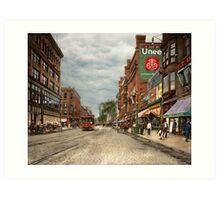 City - Lowell MA - A dam good company 1908 Art Print