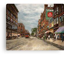City - Lowell MA - A dam good company 1908 Canvas Print