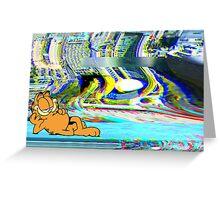 The Garfield Glitch Greeting Card