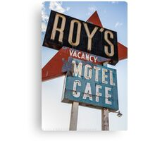 Roy's Cafe Canvas Print
