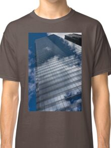Reflected Sky - Skyscraper Geometry With Clouds - Left Classic T-Shirt