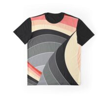 Curves in Gray and Orange Graphic T-Shirt