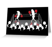 Featherweight boxers Greeting Card