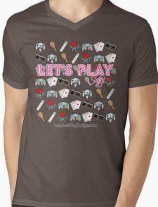 Let's Play Pink T Shirt Mens V-Neck T-Shirt