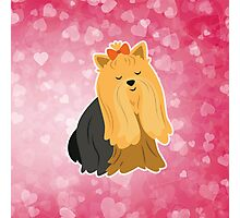 Cartoon Yorkshire Terrier Photographic Print