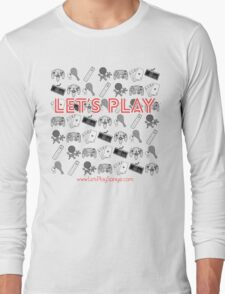 Let's Play Red T Shirt Long Sleeve T-Shirt