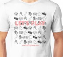 Let's Play Red T Shirt Unisex T-Shirt