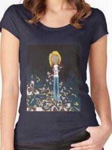 weirdo. Women's Fitted Scoop T-Shirt