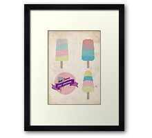 We love ice cream Framed Print